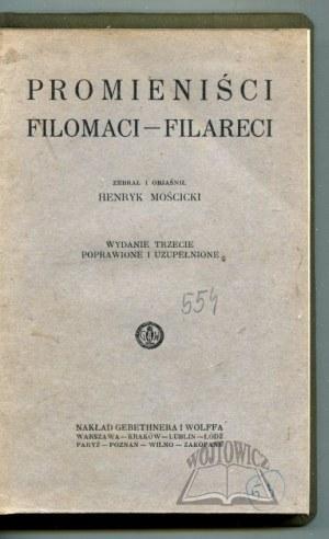 MOŚCICKI Henryk, Promieniści. Filomaci - Filareci.