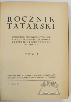 ROCZNIK Tatarski.
