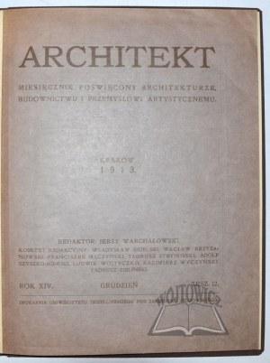 (WILNO). ARCHITEKT. Miesięcznik poświęcony architekturze, budownictwu i przemysłowi artystycznemu.