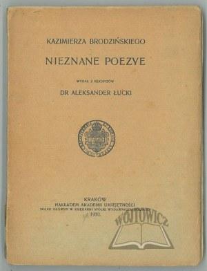 BRODZIŃSKI Kazimierz, Nieznane poezye.