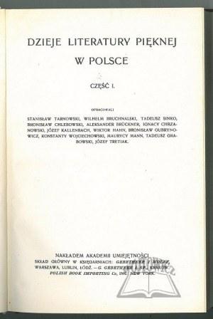 DZIEJE literatury pięknej w Polsce.