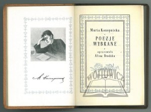 KONOPNICKA Maria, Poezje wybrane.