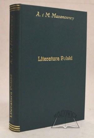 MAZANOWSCY Antoni i Mikołaj, Podręcznik do dziejów literatury polskiej.