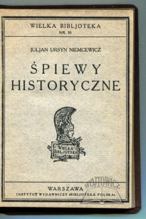 NIEMCEWICZ Julian Ursyn, Śpiewy historyczne.