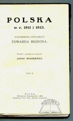 BIGNON Edward, Polska w r. 1811 i 1813.
