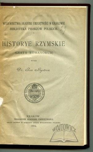 BYSTROŃ Jan, Historye rzymskie (Gesta Romanorum).