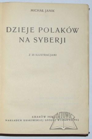 JANIK Michał, Dzieje Polaków na Syberji.