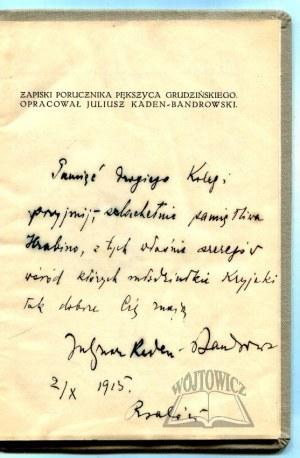 KADEN-Bandrowski Juliusz, Zapiski porucznika Pększyca Grudzińskiego.
