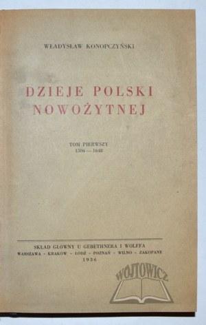 KONOPCZYŃSKI Władysław, Dzieje Polski Nowożytnej.