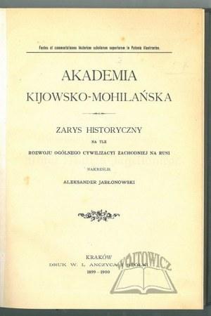 JABŁONOWSKI Aleksander, Akademia Kijowsko - Mohilańska.
