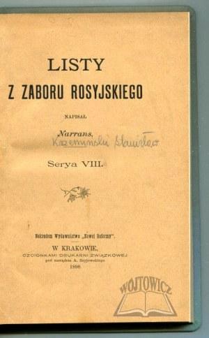 NARRANS (KRZEMIŃSKI Stanisław), Listy z zaboru rosyjskiego.