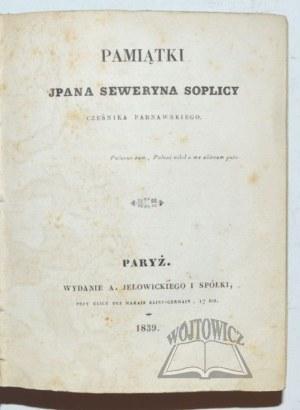 (RZEWUSKI Henryk), Pamiątki pana Seweryna Soplicy, Cześnika Parnawskiego.