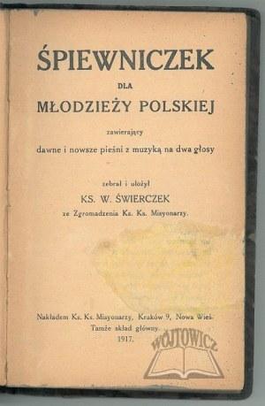 ŚWIERCZEK W.(endelin) ks. (1888-1974), Śpiewniczek młodzieży polskiej