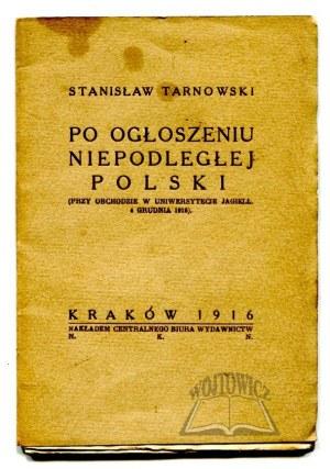 TARNOWSKI Stanisław, Po ogłoszeniu niepodległej Polski.