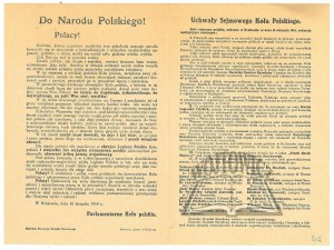 (PARLAMENTARNE Koło Polskie). Do Narodu Polskiego!