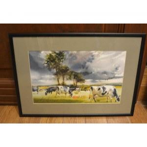 Adam Papke, Pejzaż z krowami