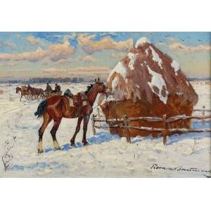 Roman Antoni BREITENWALD (1911-1985), Motyw zimowy