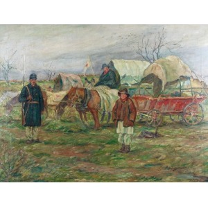 Włodzimierz BŁOCKI (1885-1921), Polowy punkt sanitarny wojsk austrowęgierskich, 1915