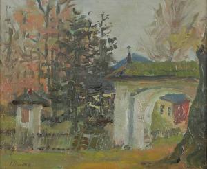 Ignacy PINKAS (1888-1935), Wyjście z dziedzińca Rościel