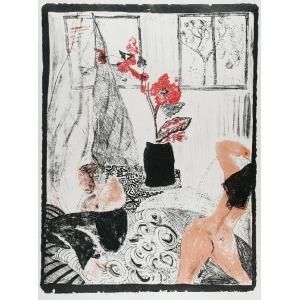 Ewa KURYLUK (ur. 1946), Nasz pokój z czerwonym kwiatem, 1967