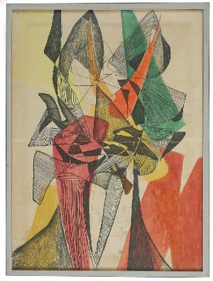 Maria JAREMA (1908-1958), Głowy, 1954