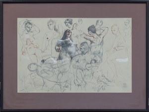 Tomasz KAZIKOWSKI (ur. 1952), Szkice aktów kobiecych, 1993