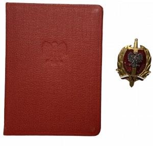 Odznaka X lat służby narodu wraz z legitymacją 1955