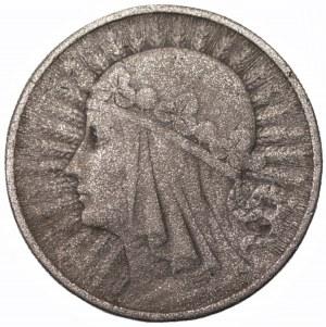 II RP - Fałszerstwo z epoki - 10 złotych 1932 Głowa Kobiety