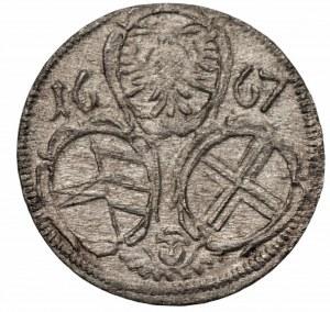 AUSTRIA - Leopold I (1657-1705) - 2 feningi 1667 - jednostronne