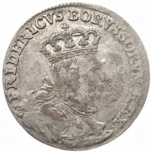 NIEMCY - Prusy - Fryderyk II (1740-1786) - Szóstak 1757 - Kleve (C)