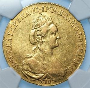 ROSJA - Katarzyna II - 10 rubli 1778 СПБ, Petersburg - NGC XF details