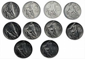 PRL - Zestaw 10 x 5 złotych (1959 -1974) Rybak