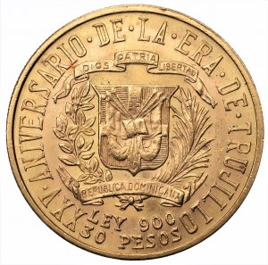 DOMINIKANA - 30 pesos 1955 Trujillo - Au900, 29,66 gram