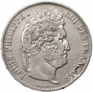 FRANCJA - Filip I - 5 franków 1838 - Lille (W)