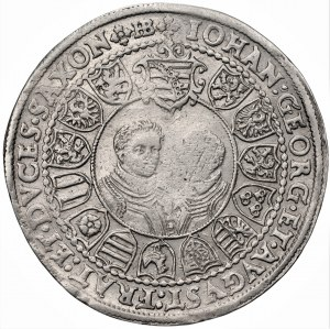 NIEMCY - Saksonia - Krystian II, Jan Jerzy I i August - Talar Drezno 1603 HB