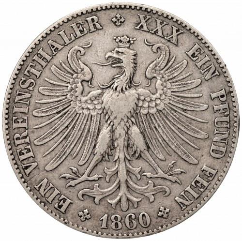 NIEMCY - Frankfurt - 1 talar 1860