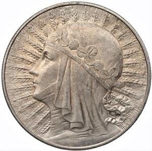 II RP - 10 złotych 1933 - Głowa Kobiety