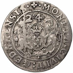 Zygmunt III Waza (1587-1632) - Ort 1624 Gdańsk – data przebita z 23
