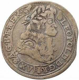 WĘGRY - Leopold I - 15 krajcarów 1682 Kremnica