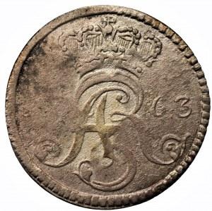 August III Sas (1733-1763) - Trojak 1763 DB Toruń