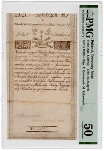 25 złotych 1794 - seria D - PMG 50
