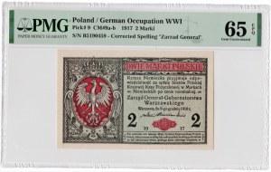2 marki polskie 1916 - seria B - PMG 65 EPQ