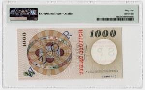 1.000 złotych 1965 - WZÓR / SPECIMEN - PMG 64 EPQ - RZADKOŚĆ