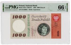 1.000 złotych 1965 - seria F - PMG 66 EPQ