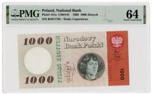 1.000 złotych 1965 - seria B - PMG 64