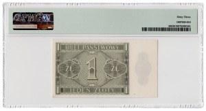 1 złoty 1938 - seria IJ - PMG 63