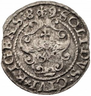 Zygmunt III Waza (1587-1632) - Szeląg 1589 przebitka z 8 na 9