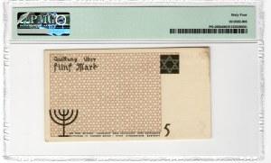 GETTO Łódź - 5 marek 1940 - numerator pomarańczowy - papier kartonowy - PMG 64