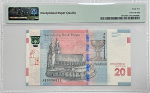 20 złotych 2015 - 1050 rocznica chrztu Polski - PMG 66 EPQ