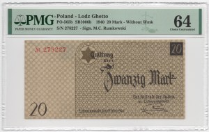 GETTO Łódź - 20 marek 1940 - PMG 64
